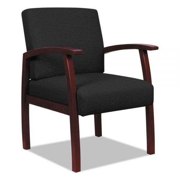 Alera Reception Lounge 700 Series Guest Chair, Mahogany/Black