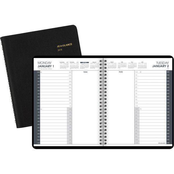 At-A-Glance 24-Hour Daily Appointment Book