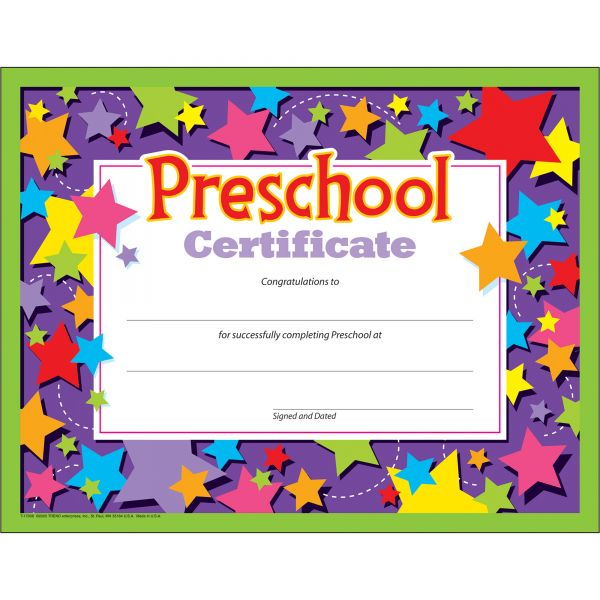 TREND Colorful Classic Preschool Certificates