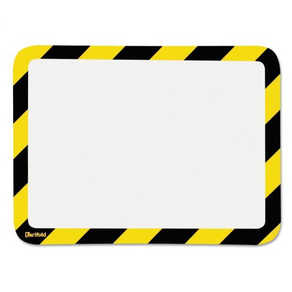 Tarifold, Inc. High Visibility Safety Frame Display Pocket-Self Adhesive,10 1/4 x 14 1/2, YW/BK