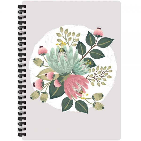 "Rustic Romantic Spiral-Bound Notebook 7""X9.5"""
