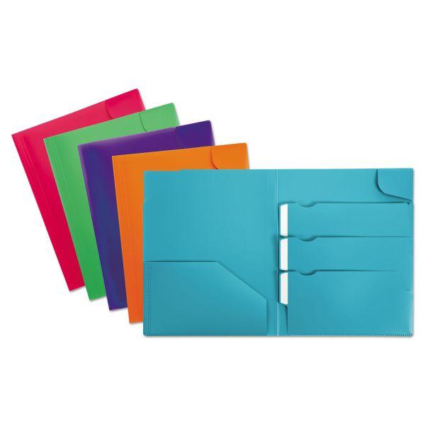 Oxford Divide It Up Four-Pocket Poly Folder