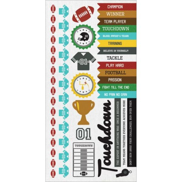 "Game On! Cardstock Stickers 6""X12"""
