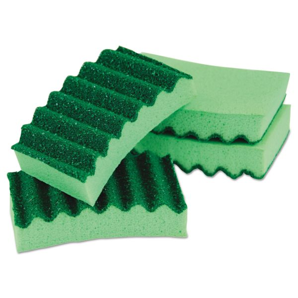 LYSOL Brand Durable Heavy Duty Scrub Sponges, 4 1/5 x 2 1/2 x 9/10, Green, 4/Pack