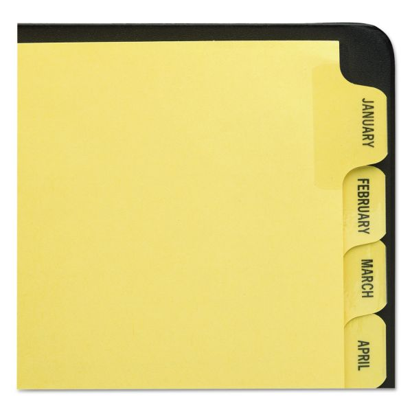 Avery Preprinted Laminated Tab Dividers w/Gold Reinforced Binding Edge, 12-Tab, Letter