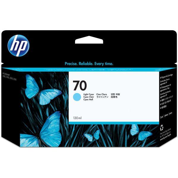 HP 70 Light Cyan Ink Cartridge (C9390A)
