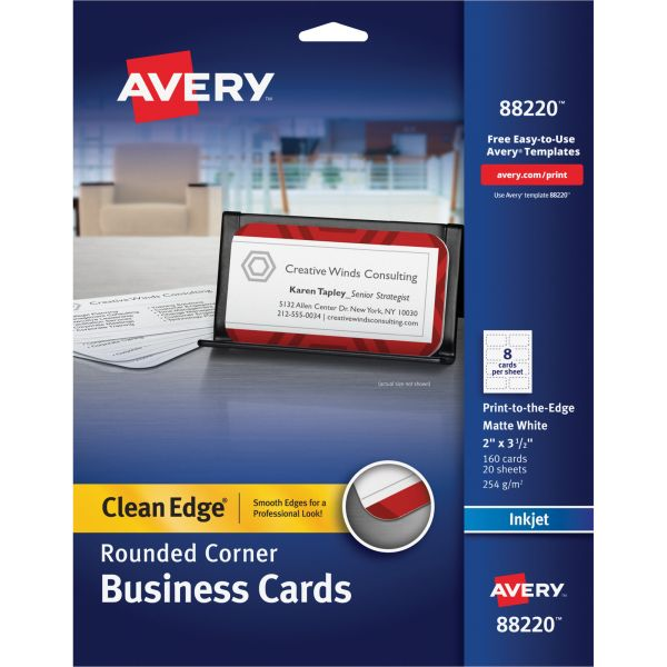 Avery Rounded Clean Edge Business Cards