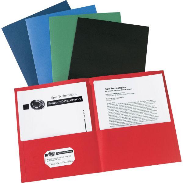 Avery Two-Pocket Folder, 40-Sheet Capacity, Assorted Colors, 25/Box