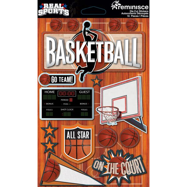 Real Sports Dimensional Cardstock Stickers
