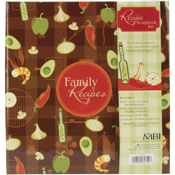 Family Recipes 3-Ring Scrapbook Kit