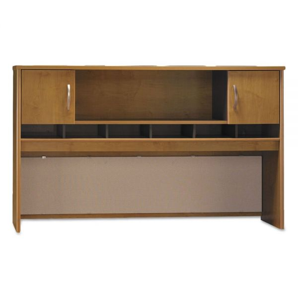 Bush Series C Collection 72W Two-Door Hutch, Box 1 of 2, Natural Cherry