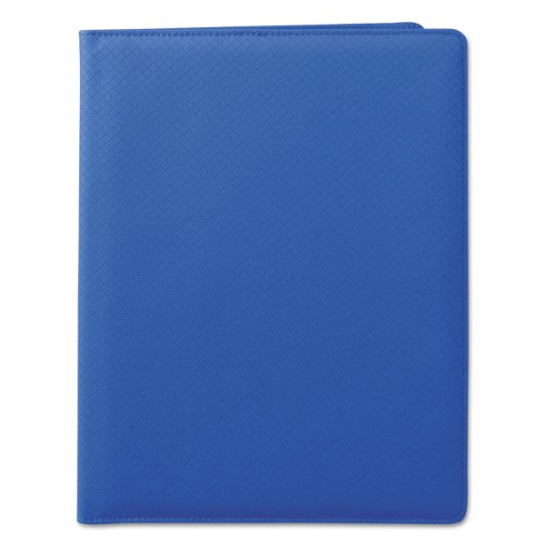 Samsill Fashion Padfolio, 8 1/2 x 11, Blue PVC