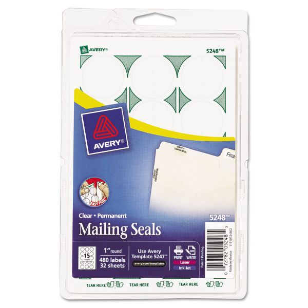 Avery Permanent Clear Mailing Seals