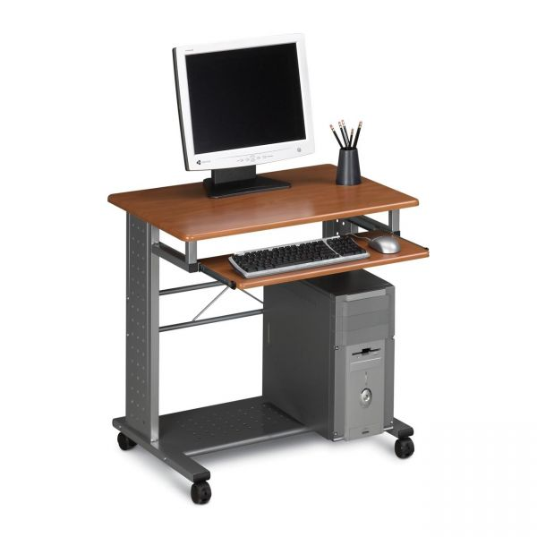 Tiffany Industries Empire Mobile PC Cart, Keyboard Tray, 28-1/2 x 23 x 28-3/4, Metallic Gray