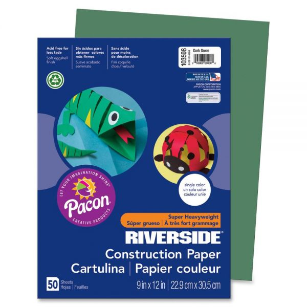 Pacon Groundwood Green Construction Paper