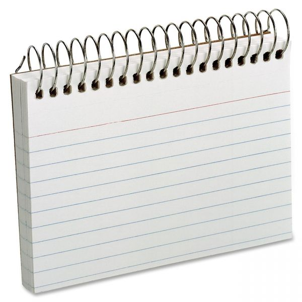 "Oxford 3"" x 5"" Ruled Spiral-Bound Index Cards"