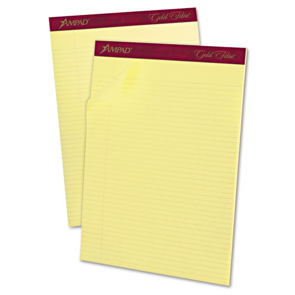 Ampad Gold Fibre Letter-Size Yellow Legal Pads