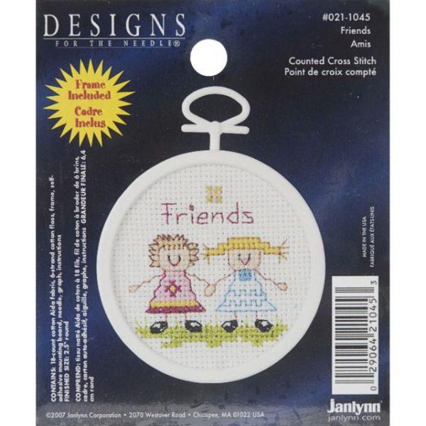 Janlynn Friends Mini Counted Cross Stitch Kit