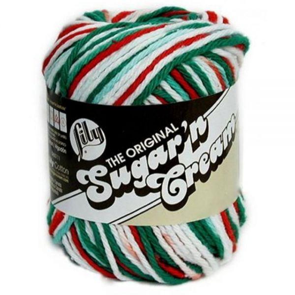 Lily Sugar'n Cream Yarn - Christmas Mistletoe