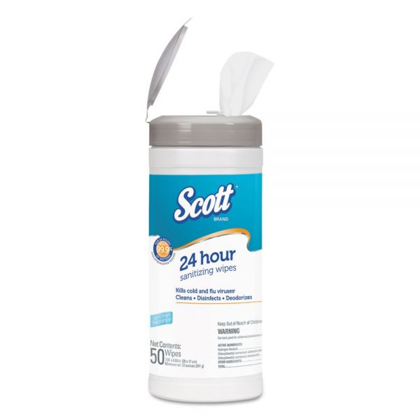 Scott 24 Hour Sanitizing Wipes