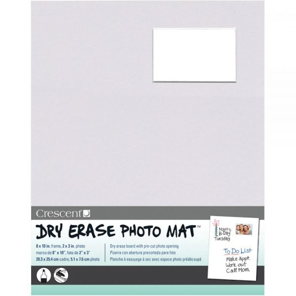 "Dry-Erase 8""X10"" Photo Mat Holds 2""X3"" Photo"