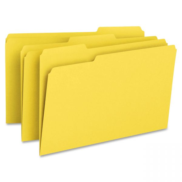 Smead Yellow Colored File Folders