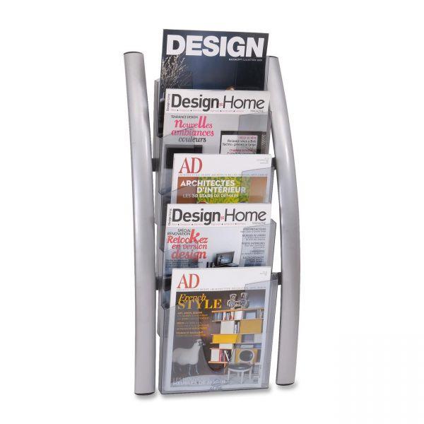 Alba 5-Pocket Wall Literature Rack