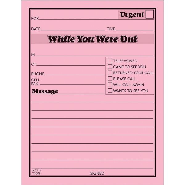 TOPS While You Were Out Message Pads