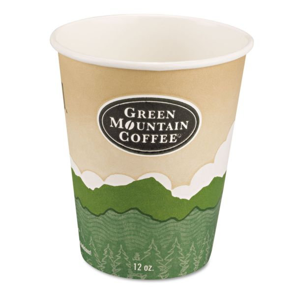 Green Mountain Eco-Friendly 12 oz Paper Hot Cups