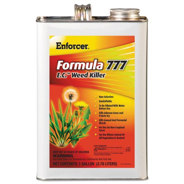 Enforcer Formula 777 E.C. Weed Killer, Non-Cropland, 1 gal Can, 4/Carton