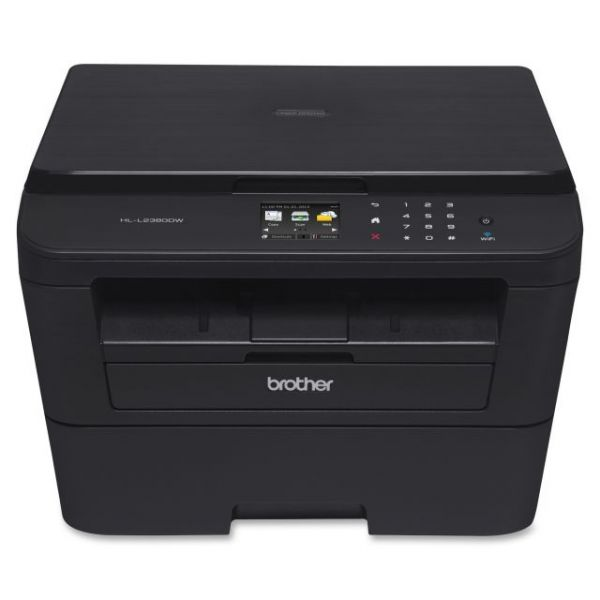 Brother HL-L2380DW Laser Multifunction Printer - Monochrome - Plain Paper Print - Desktop