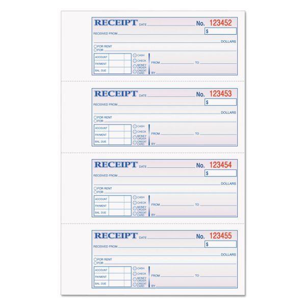 Tops Manifold Money/Rent 3-Part Receipt Book