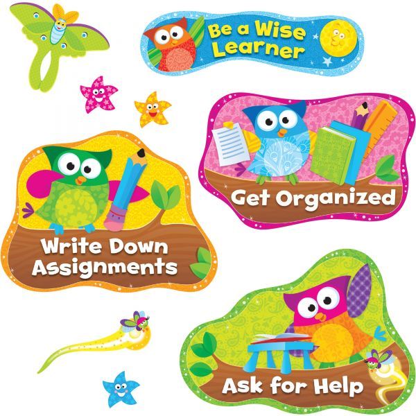Trend Owl Study Habits Bulletin Board Set