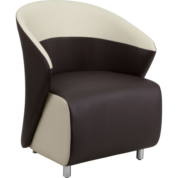 Flash Furniture Brown Leather Reception Chair