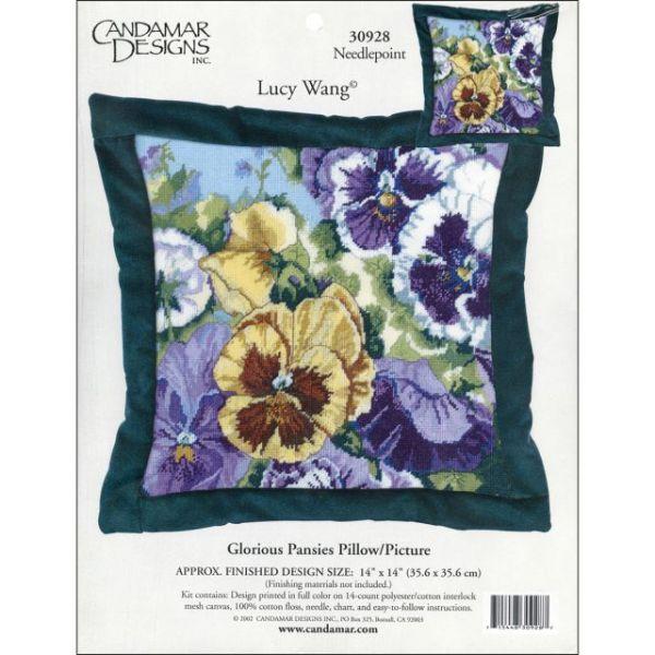 Glorious Pansies Needlepoint Kit
