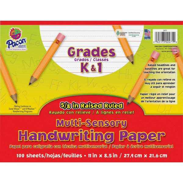 Pacon Multi-Sensory Raised Ruled Handwriting Paper