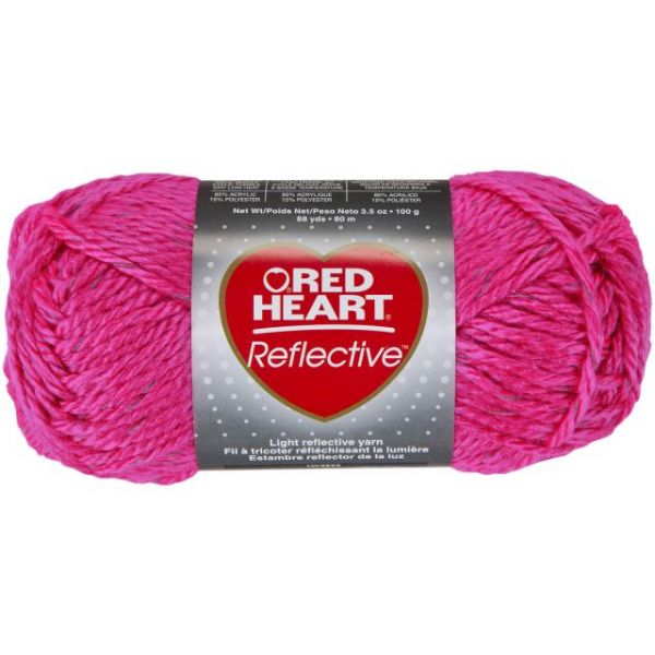 Red Heart Reflective Yarn - Neon Pink