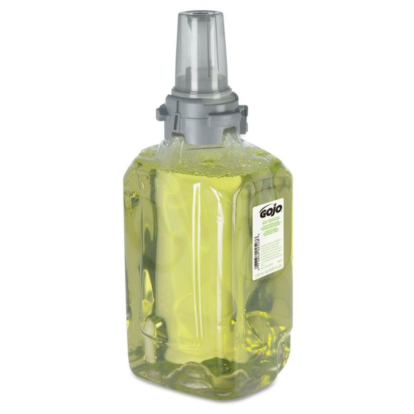 GOJO ADX-12 Refills, Citrus Floral/Ginger, 1250mL Bottle, 3/Carton