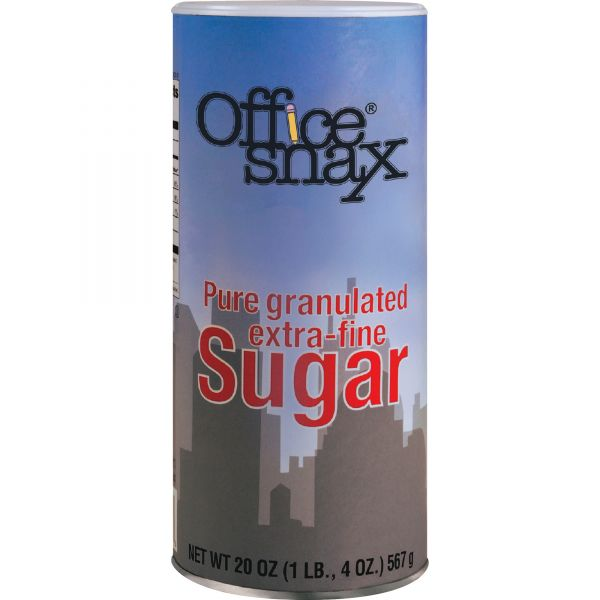 Office Snax Extra-Fine Granulated Sugar Canister