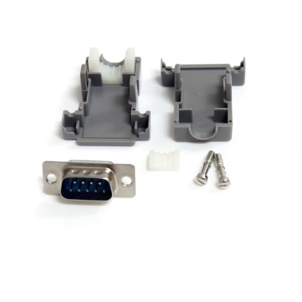 StarTech.com Assembled DB9 Male Solder D-SUB Connector with Plastic Backshell