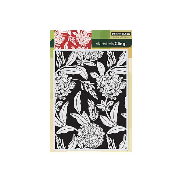 "Penny Black Cling Rubber Stamp 5""X7.5"" Sheet"