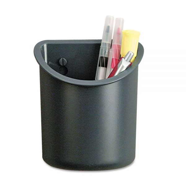 Universal Recycled Plastic Cubicle Pencil Cup, 4 1/4 x 2 1/2 x 5, Charcoal