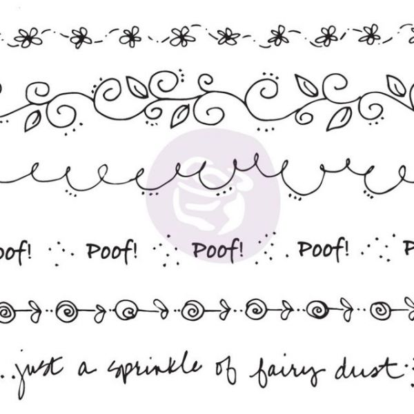 Julie Nutting Mixed Media Cling Rubber Stamps