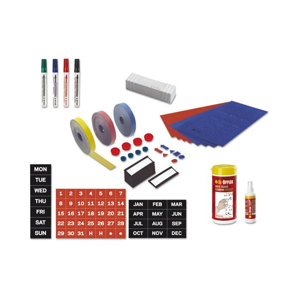 MasterVision Magnetic Board Accessory Kit, Blue/Red