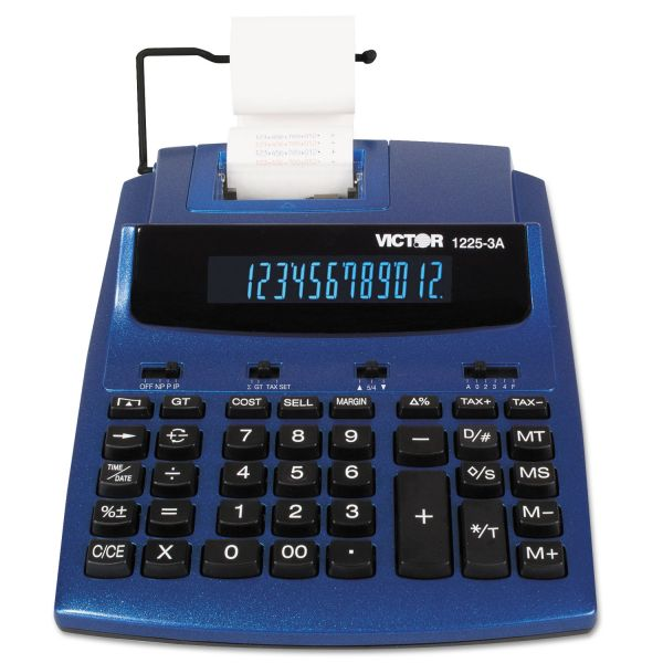 Victor 1225-3A Commercial Printing Calculator with Built-In AntiMicrobial Protection