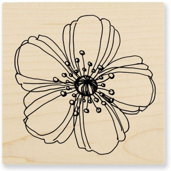 "Stampendous Mounted Rubber Stamp 3""X3"""