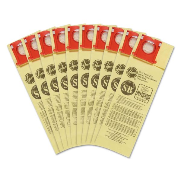 Hoover Commercial Disposable Vacuum Bags, Allergen SB, 10/Carton