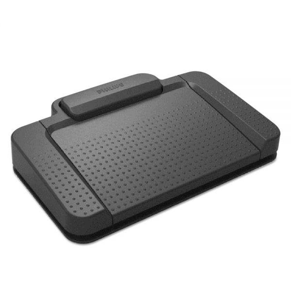 Philips Transcription Kit Foot Pedals, 4 Button Pedal
