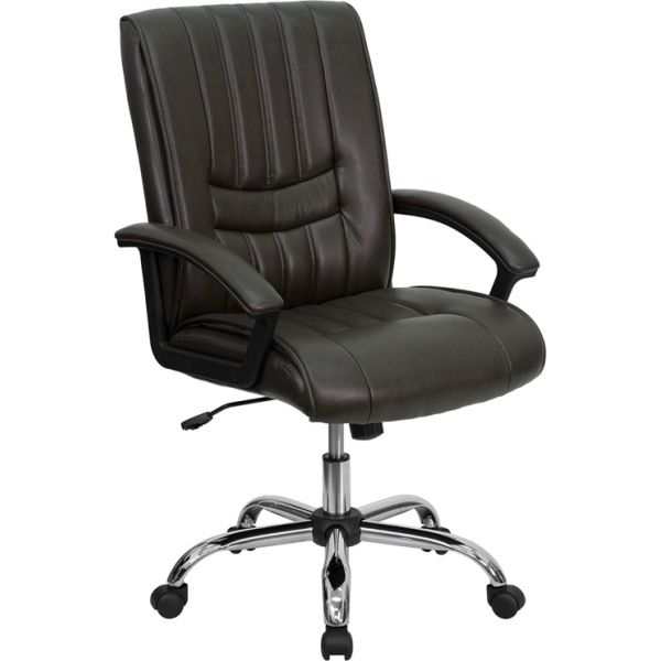 Flash Furniture Mid-Back Leather Manager's Chair