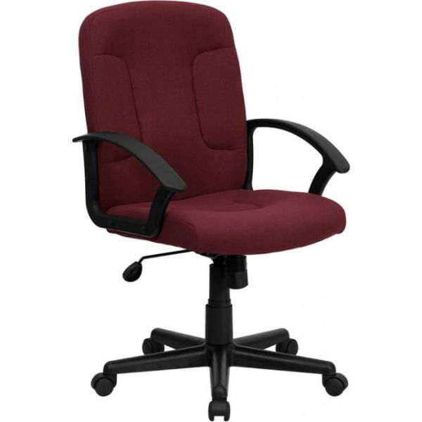 Flash Furniture Mid-Back Computer Chair with Arms